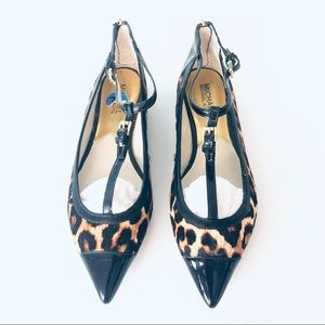 Michael Kors Leopard Print Pointed Toe Flat Shoes
